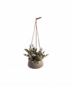 Hangende bloempot unique grijs small van Present Time