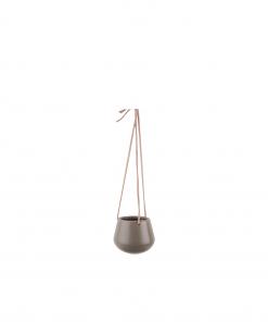 Hangende plantenpot skittle warm grijs small van Present Time