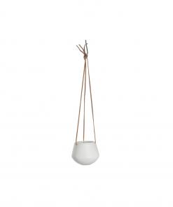 Hangende plantenpot skittle wit small