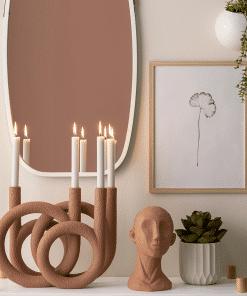 Atmosphärische Foto Kerzenringe Teracotta