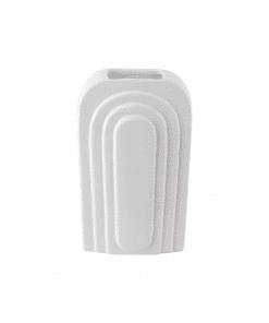 Vase weiß Bogen groß aus der Gegenwart