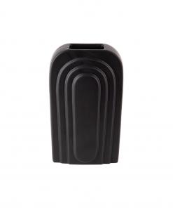Schwarze Vase Bogen aus der Gegenwart