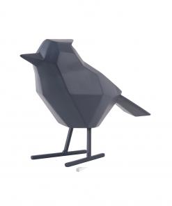 Donker blauwe vogel large van Present Time