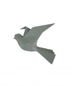 Wandhanger vogel groen small van Present Time