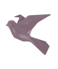 Wandhanger vogel paars large van Present Time