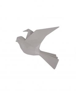 Wandhanger vogel warm grijs small van Present Time