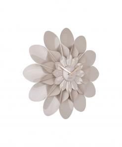 Wandklok flower warm grey van Karlsson
