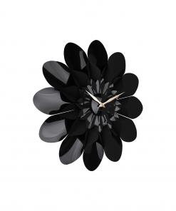 Wandklok flower zwart van Karlsson
