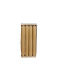 Hoogglans dinerkaarsen Caramel van Rustik Lys